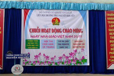 Sôi nổi chuỗi hoạt động chào mừng ngày Nhà giáo Việt Nam tại liên đội trường THCS Nguyễn Khuyến