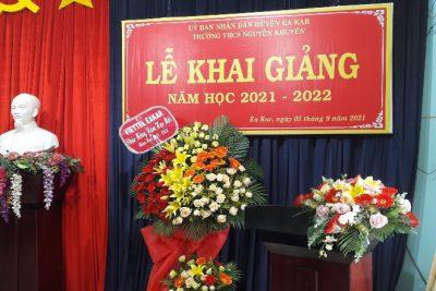 TRƯỜNG THCS NGUYỄN KHUYẾN – EA KAR TỔ CHỨC LỄ KHAI GIẢNG NĂM HỌC 2021-2022.