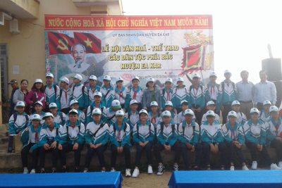 Hoạt động TNST tìm hiểu Lễ Hội văn hóa, thể thao các dân tộc phía Bắc tại xã Cư Elang, huyện Ea Kar.
