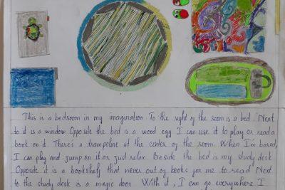 """Góc trải nghiệm sáng tạo: Học sinh lớp 8 với chủ đề """"My dream bedroom"""""""